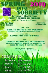 Spring Into Sobriety 2019 @ Christ Lutheran Church | Visalia | California | United States