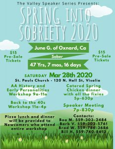Planning meeting: Spring Into Sobriety 2020 @ St. Paul Episcopal Church